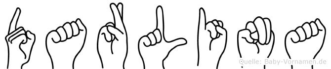 Darlina im Fingeralphabet der Deutschen Gebärdensprache