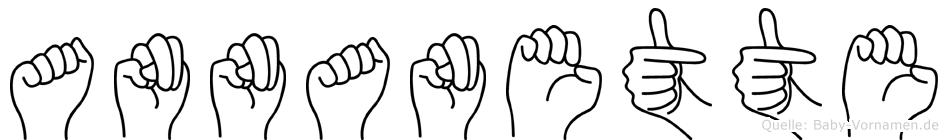 Annanette im Fingeralphabet der Deutschen Gebärdensprache