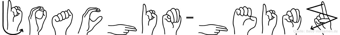 Joachim-Heinz im Fingeralphabet der Deutschen Gebärdensprache