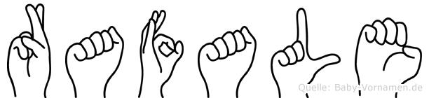 Rafale im Fingeralphabet der Deutschen Gebärdensprache