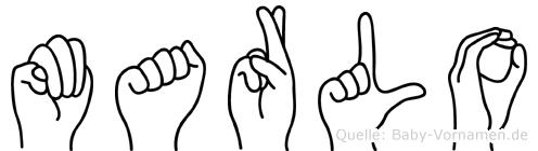 Marlo im Fingeralphabet der Deutschen Gebärdensprache