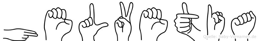 Helvetia in Fingersprache für Gehörlose