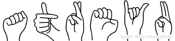 Atreyu im Fingeralphabet der Deutschen Gebärdensprache