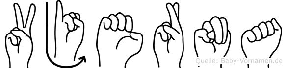 Vjerna in Fingersprache für Gehörlose