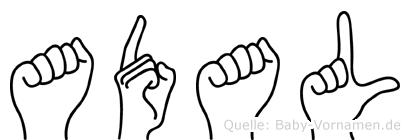 Adal in Fingersprache für Gehörlose