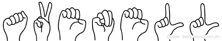 Avenell in Fingersprache für Gehörlose
