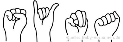 Syna im Fingeralphabet der Deutschen Gebärdensprache