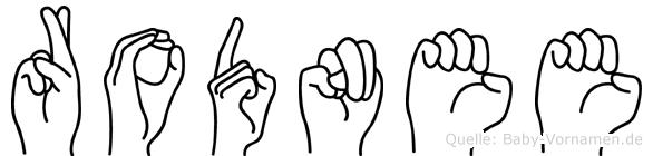 Rodnee in Fingersprache für Gehörlose