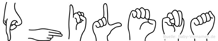 Philena in Fingersprache für Gehörlose