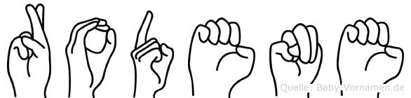 Rodene im Fingeralphabet der Deutschen Gebärdensprache