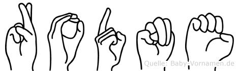 Rodne in Fingersprache für Gehörlose