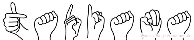 Tadiana in Fingersprache für Gehörlose