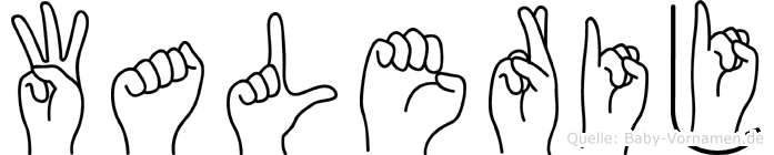 Walerij im Fingeralphabet der Deutschen Gebärdensprache