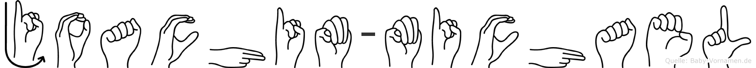 Joachim-Michael im Fingeralphabet der Deutschen Gebärdensprache