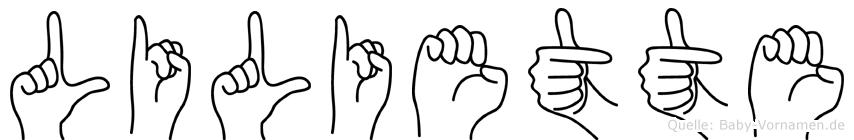 Liliette in Fingersprache für Gehörlose