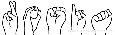 Rosia in Fingersprache für Gehörlose