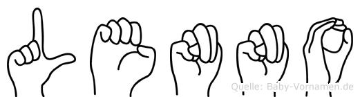 Lenno im Fingeralphabet der Deutschen Gebärdensprache