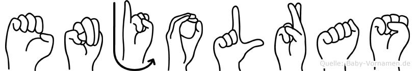 Enjolras im Fingeralphabet der Deutschen Gebärdensprache