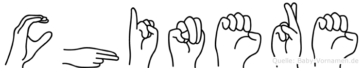 Chinere im Fingeralphabet der Deutschen Gebärdensprache