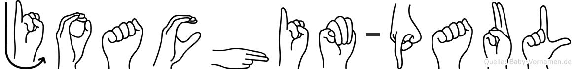 Joachim-Paul im Fingeralphabet der Deutschen Gebärdensprache