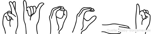 Ryochi im Fingeralphabet der Deutschen Gebärdensprache