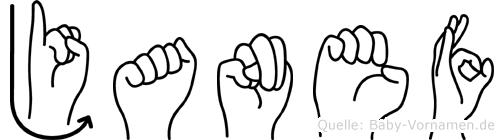 Janef in Fingersprache für Gehörlose