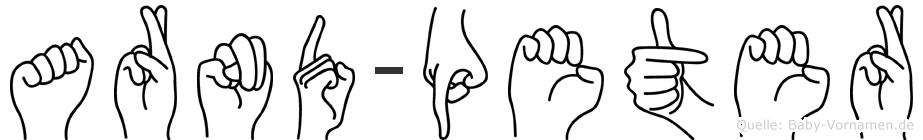 Arnd-Peter im Fingeralphabet der Deutschen Gebärdensprache