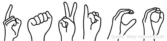Davico in Fingersprache für Gehörlose