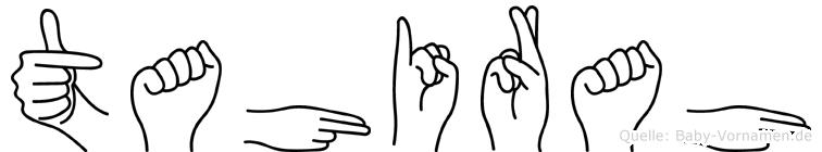 Tahirah im Fingeralphabet der Deutschen Gebärdensprache