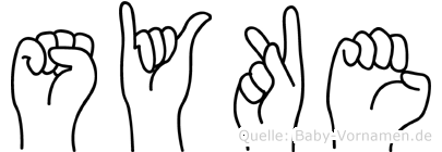 Syke im Fingeralphabet der Deutschen Gebärdensprache