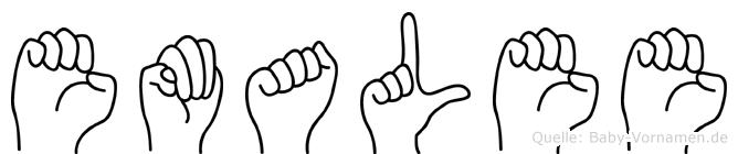 Emalee im Fingeralphabet der Deutschen Gebärdensprache
