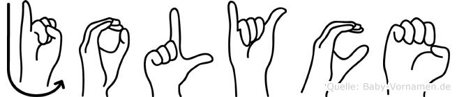 Jolyce in Fingersprache für Gehörlose