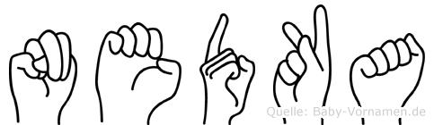 Nedka in Fingersprache für Gehörlose