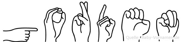 Gorden in Fingersprache für Gehörlose