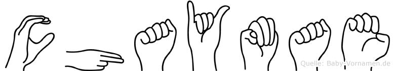 Chaymae im Fingeralphabet der Deutschen Gebärdensprache