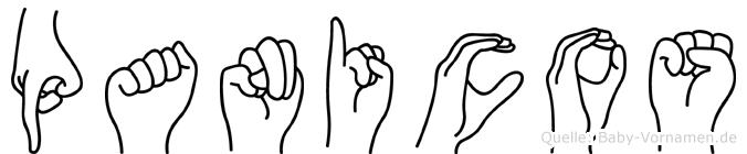 Panicos im Fingeralphabet der Deutschen Gebärdensprache
