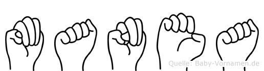 Manea in Fingersprache für Gehörlose