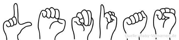 Lenias in Fingersprache für Gehörlose