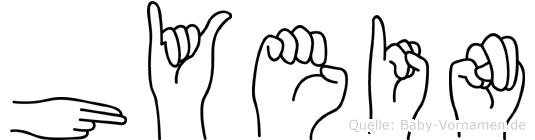 Hyein in Fingersprache für Gehörlose