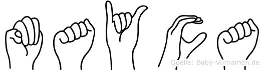 Mayca in Fingersprache für Gehörlose