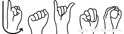 Jayno in Fingersprache für Gehörlose