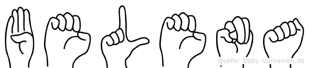 Belena im Fingeralphabet der Deutschen Gebärdensprache