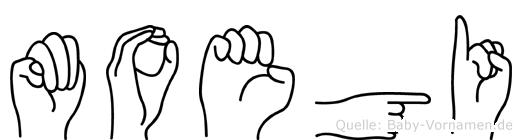 Moegi in Fingersprache für Gehörlose