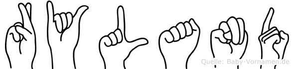 Ryland in Fingersprache für Gehörlose