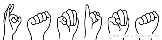 Famina in Fingersprache für Gehörlose