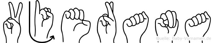 Vjerana im Fingeralphabet der Deutschen Gebärdensprache