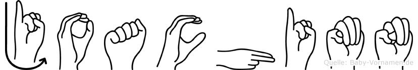 Joachimn im Fingeralphabet der Deutschen Gebärdensprache