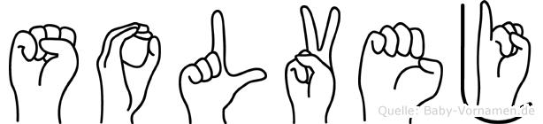Solvej im Fingeralphabet der Deutschen Gebärdensprache