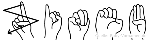 Zineb im Fingeralphabet der Deutschen Gebärdensprache