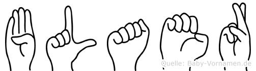 Blaer in Fingersprache für Gehörlose